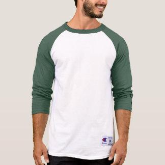 OSCURIDAD VERDE de la camisa con mangas del raglán
