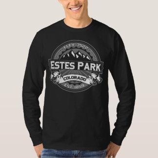 Oscuridades del gris del logotipo del parque de camisetas