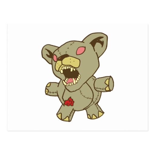 Osito de peluche monstruo teddybear tarjeta postal