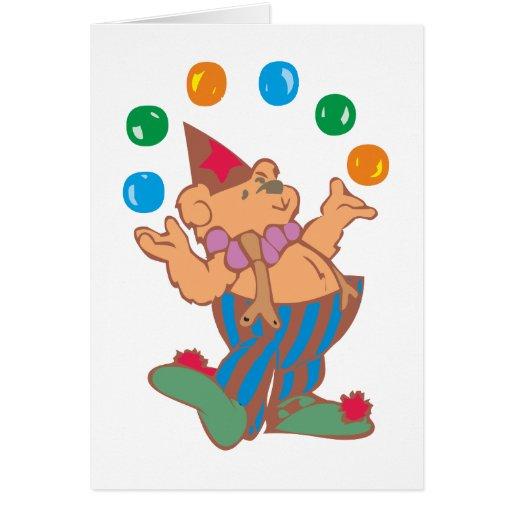 Osito de peluche teddy bear malabar juggler felicitaciones