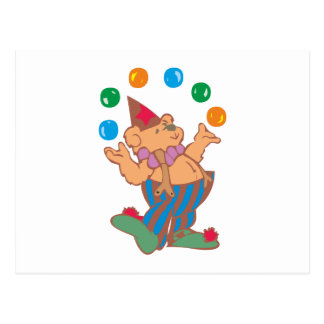 Osito de peluche teddy bear malabar juggler postal