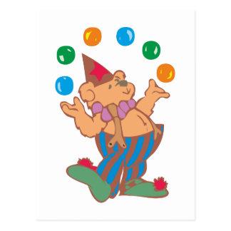 Osito de peluche teddy bear malabar juggler tarjeta postal