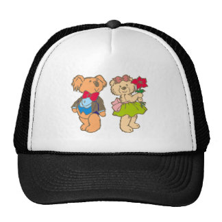 Osito de peluche teddy bear pareja couple gorra