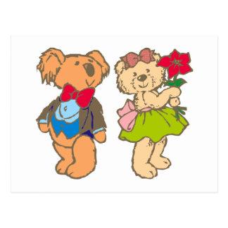 Osito de peluche teddy bear pareja couple postales