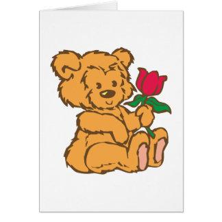 Osito de peluche teddy bear tarjeton