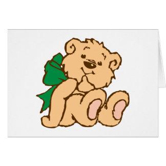 Osito de peluche teddy bear tarjetón