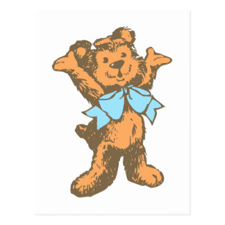Osito de peluche teddy bear tarjeta postal