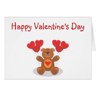 Osito Valentine s Day Card Tarjeta
