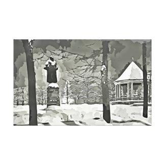 Oslo, impresión blanco y negro de la lona de la