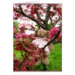 ¡Oso Blossums, feliz cumpleaños! Tarjeta De Felicitación