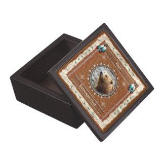 Oso - caja de regalo de madera de la introspección