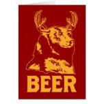 Oso + Ciervos = cerveza Tarjeta