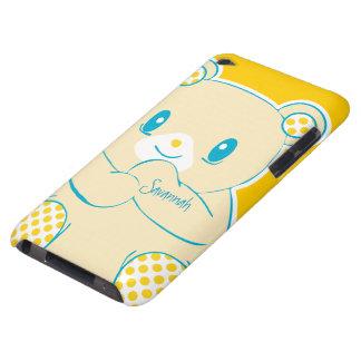 OSO colorido lindo del amarillo de la mostaza del iPod Touch Funda