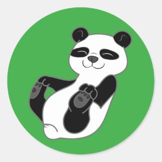 Oso Cub de panda Pegatina Redonda