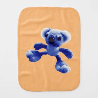 Oso de koala dulce del bebé azul paños para bebé