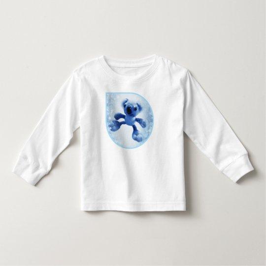 Oso de koala dulce del bebé en una gota de agua camiseta de bebé