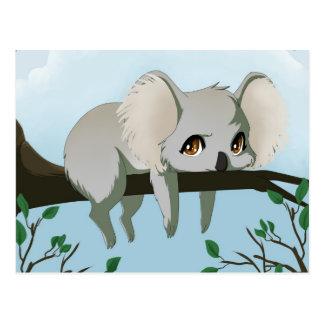 Oso de koala gruñón postal