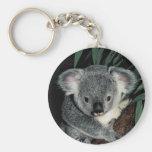 Oso de koala lindo llaveros personalizados