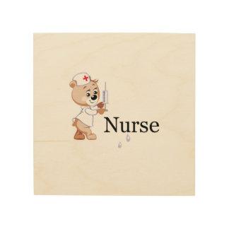 Oso de la enfermera cuadros de madera