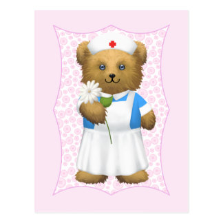Oso de la enfermera - oso de peluche postales