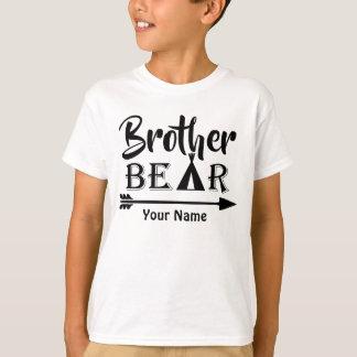 Oso de la flecha de hermano mayor personalizado camiseta