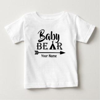 Oso de la flecha de hermano mayor personalizado camiseta de bebé