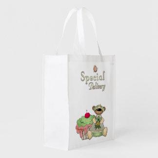 Oso de la magdalena de la entrega especial bolsas para la compra
