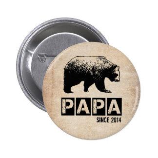Oso de la papá del Grunge desde 2014, negro Pin