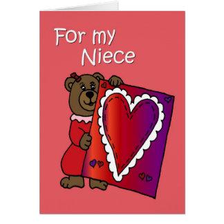 Oso de la tarjeta del día de San Valentín para la