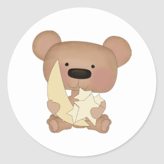 oso de las estrellas pegatinas redondas