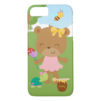 Oso de miel lindo funda iPhone 7