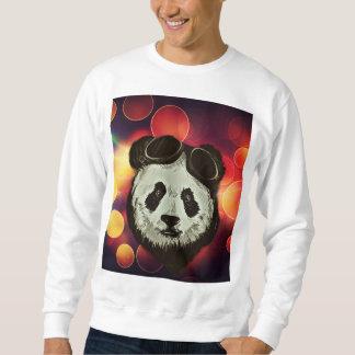 Oso de panda con el arte de Bokeh Sudadera