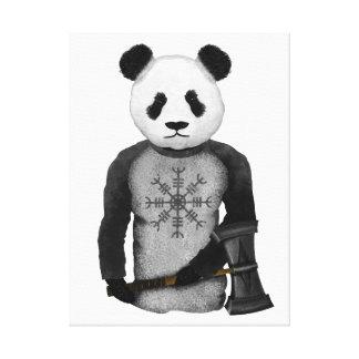 Oso de panda con el martillo del Thor Lienzo