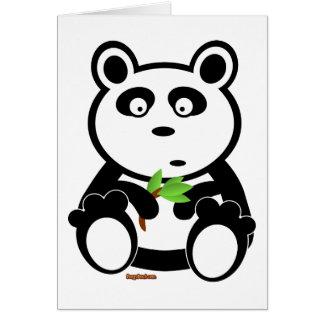 Oso de panda de Bubba Tarjeta De Felicitación