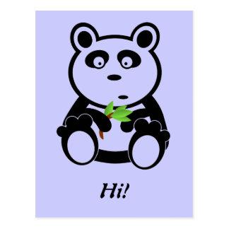 Oso de panda del amor postal