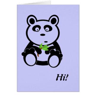 Oso de panda del amor tarjeta de felicitación