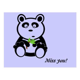 Oso de panda del amor postales