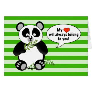 Oso de panda divertido - ÁMELE - humor Tarjeta
