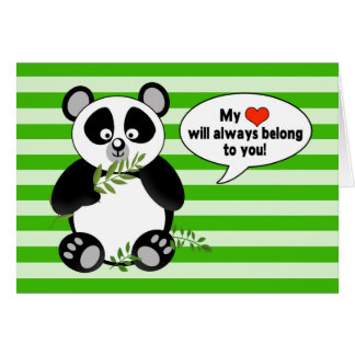Oso de panda divertido - ÁMELE - humor Tarjeta De Felicitación
