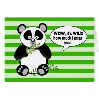 ¡Oso de panda divertido - SRTA. YOU! - Humor Tarjeta De Felicitación