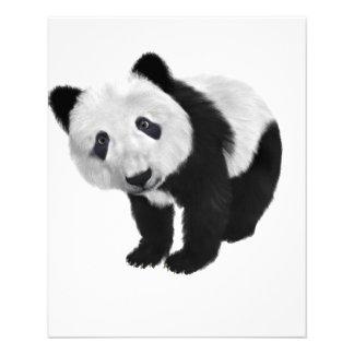 Oso de panda folleto 11,4 x 14,2 cm