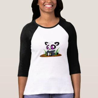 Oso de panda lindo con el bigote camiseta