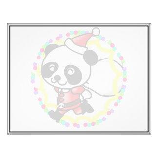 Oso de panda lindo del dibujo animado Santa Flyer A Todo Color