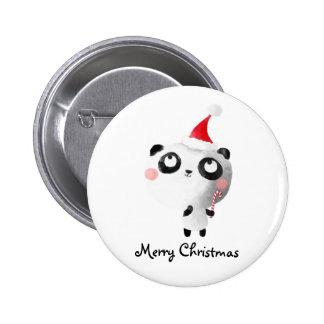 Oso de panda lindo del navidad pin