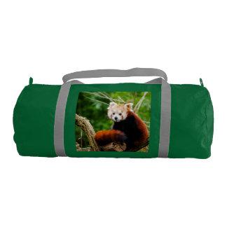 Oso de panda roja lindo bolsa de deporte
