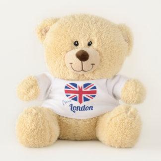 Oso De Peluche Amor de la bandera BRITÁNICA en forma de corazón