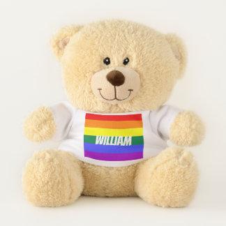 Oso De Peluche Arco iris LGBT del orgullo gay personalizado