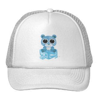 Oso de peluche - azul fresco gorro de camionero