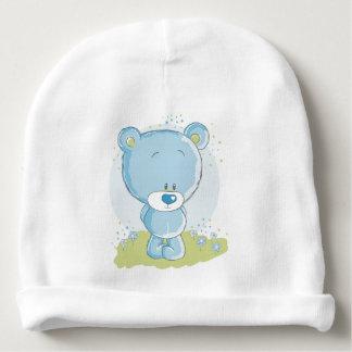 oso de peluche azul gorrito para bebe