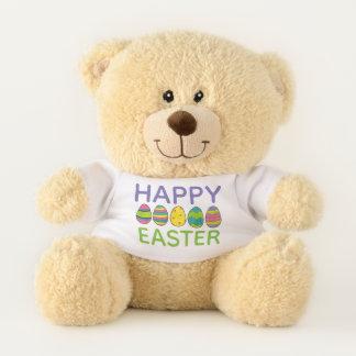 Oso De Peluche Caza en colores pastel pintada Pascua feliz del